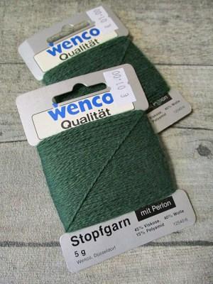 Stopfgarn Wenco Viskose Wolle Polyamid 5 Gramm tannengrün - MONDSPINNE