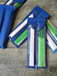 Wäschemarkierset blau Wäscheschreibband Buchstabenschablonen - MONDSPINNE