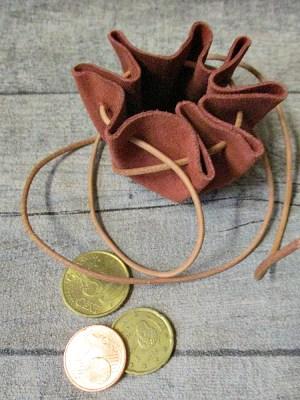 Mini-Lederbeutel terracotta natur Wildleder - MONDSPINNE