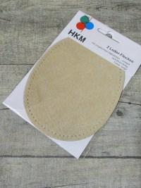 Lederflicken Lederflecken Leder Flicken oval vorgelocht vorgestanzt zum Aufnähen beige natur - MONDSPINNE