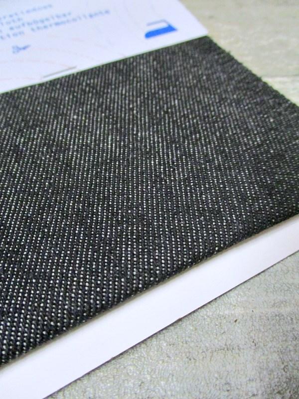 Reparaturflicken Flicken Denim schwarz rechteckig XL - MONDSPINNE