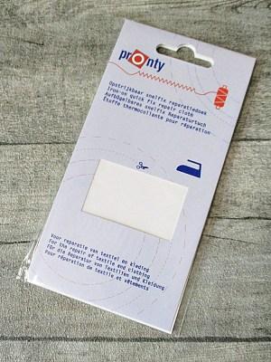 Reparaturtuch Tuchflicken Baumwolle aufbügelbar weiß - MONDSPINNE