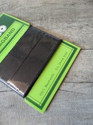 Schrägband schwarz 5 m 24 mm Baumwolle NEWO - MONDSPINNE