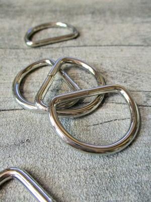 D-Ring Metall silber - MONDSPINNE