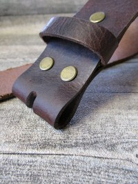 Gürtel Wechselgürtel Ledergürtel mittelbraun-dunkelbraun Rindsleder Konfektionsgröße 110 - MONDSPINNE