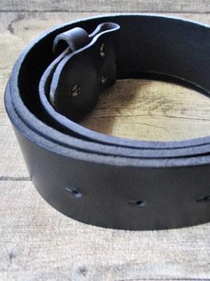 Gürtel Wechselgürtel Ledergürtel schwarz Rindsleder Konfektionsgröße 100 - MONDSPINNE