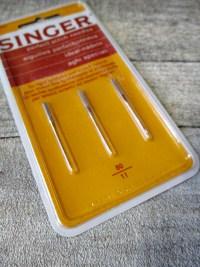 Nähmaschinennadeln Flachkolben Synthetik Strech Ideal-Nadeln Kugelspitze Singer - MONDSPINNE
