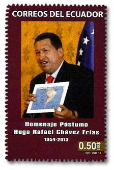 Filatelia.  UPAEP Emisión Conjunta de 5 Países en Homenaje a Hugo Chávez