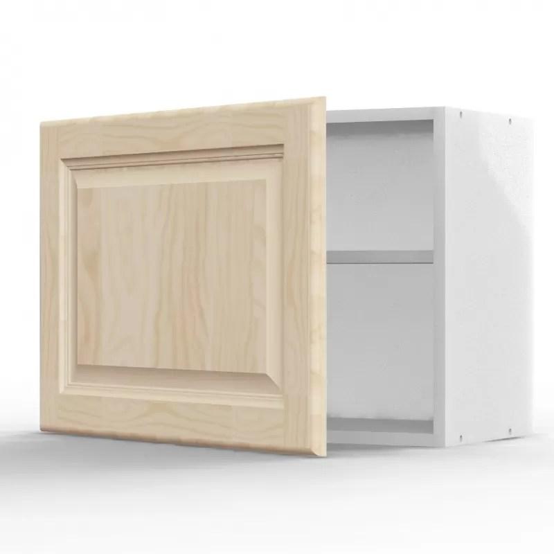 mon espace maison meuble haut sur hotte cuisine pin massif brut largeur 60cm