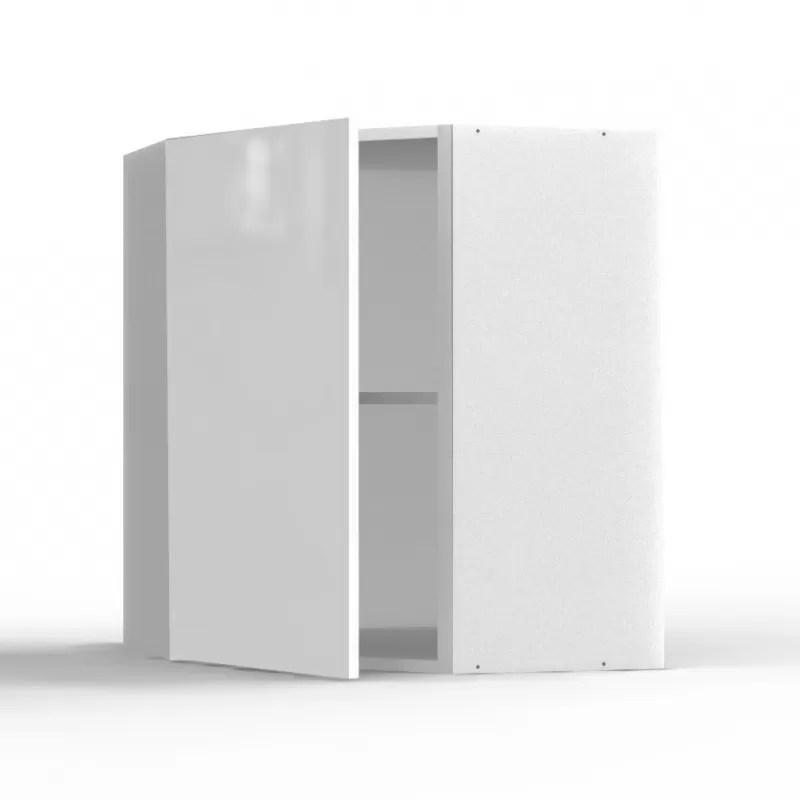 mon espace maison meuble haut angle cuisine blanc brillant largeur 40cm
