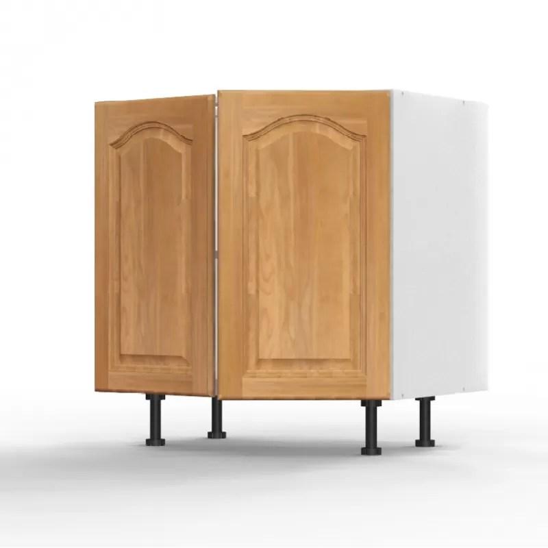 mon espace maison meuble bas cuisine sous evier chene massif verni largeur 80cm