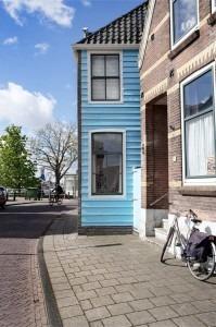 Het blauwe huis in Zaandam dat is geschilderd door Clause Monet