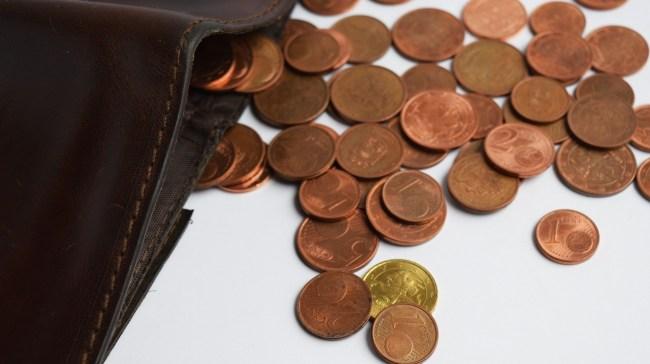 Geldbörse mit Kleingeld