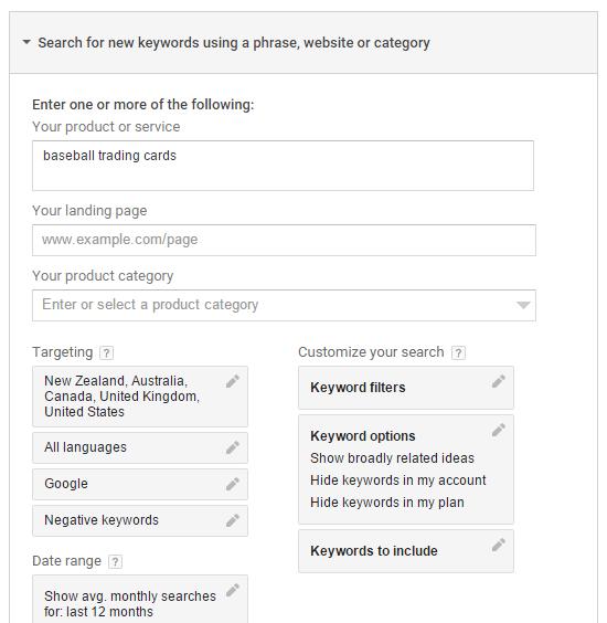 google-keyword-step-2
