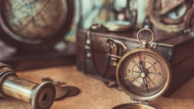 Antique Store Compass Globe