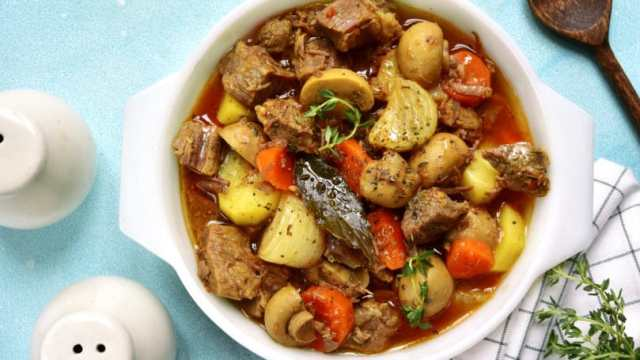 Beef Potato Tomato Stew Made In Slow Cooker