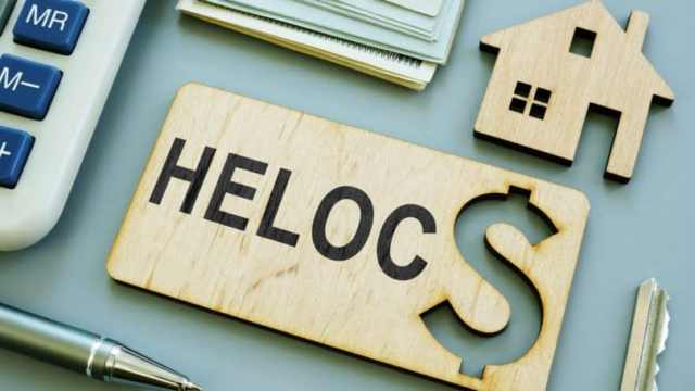 Heloc Wooden Plank Sign Home Equity