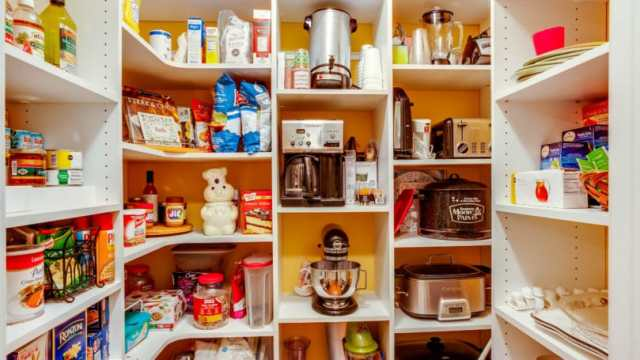 Kitchen Pantry Dry Foods Canned Coffee Maker Rice Cooker Toaster