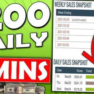 Earn $200+ Daily In Passive Income That Takes 5 Minutes (Affiliate Marketing For Beginners)