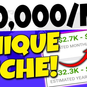 Make $10,000+ Monthly In Passive Income With This UNIQUE NICHE For Beginners (Make Money Online)