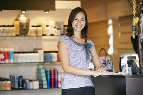 Beauty retail shop owner