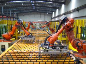 The manufacture of float glass may be part of the Robot Revolution