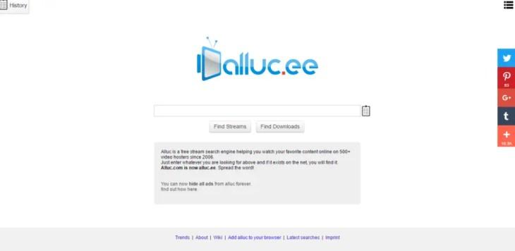 Alluc free movie streaming site