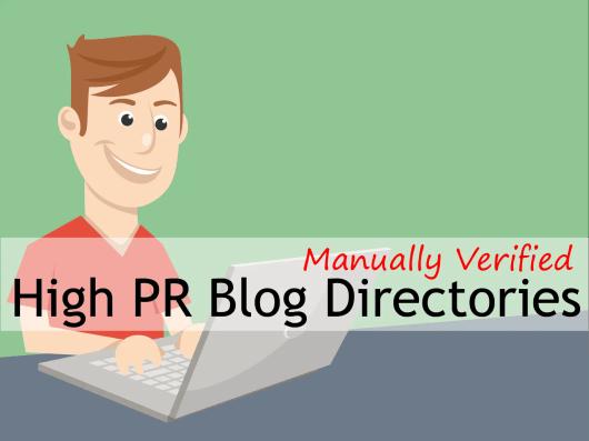HIGH PR Blog Directories Sites Lists 2015