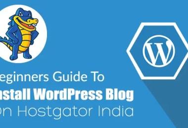 Install WordPress on Hostgator India