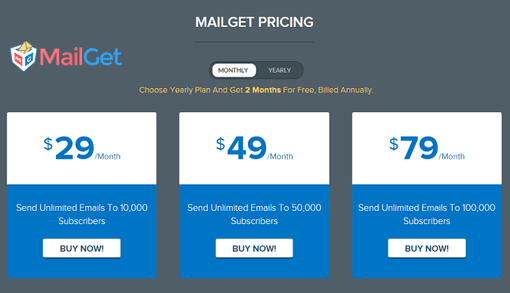 MailGet-Pricing