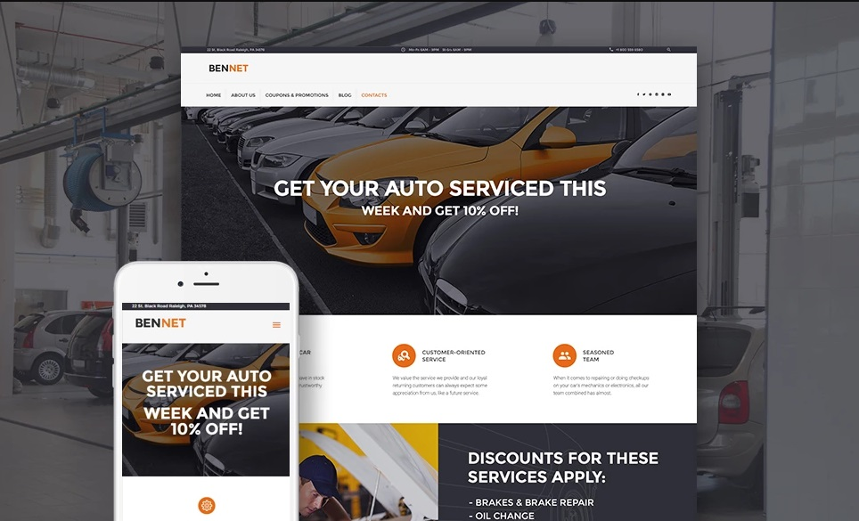 Bennet Car WordPress Theme
