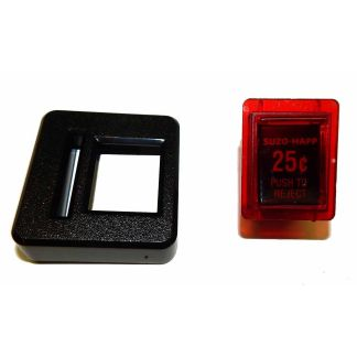 Reject Button Assembly & Entry Bezel Combo For SUZOHAPP Coin Doors | moneymachines.com