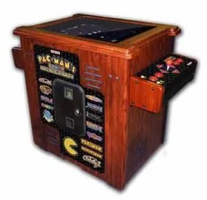 Pacman Arcade Party Home Sitdown Cocktail Cabinet Game Machine | moneymachines.com