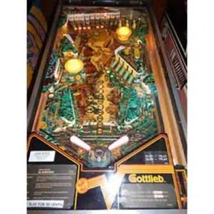 Used Gottlieb Eldorado Gold Pinball Machine Play Field | moneymachines.com