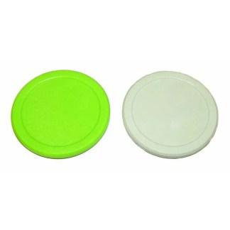 2 1/2 Inch White and Green Dynamo Puck Set | moneymachines.com
