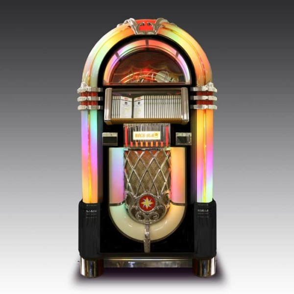 Black Rock-Ola Bubbler CD Jukebox   moneymachines.com