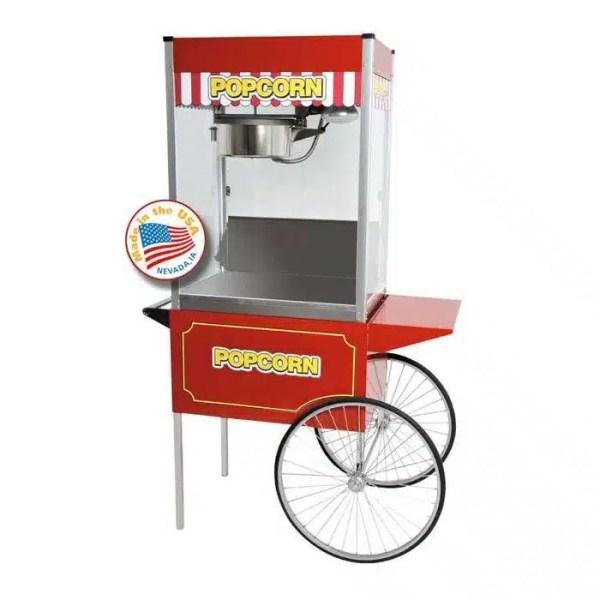 Classic Pop 16 Ounce Popcorn Machine With Large Cart Combo | moneymachines.com