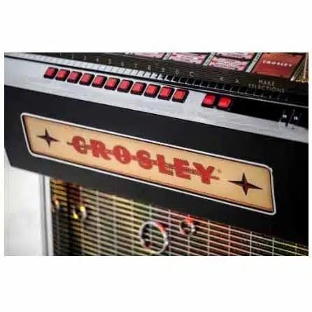 Crosley CR1210A-BK Rocket 45 Vinyl Jukebox Glass | moneymachines.com