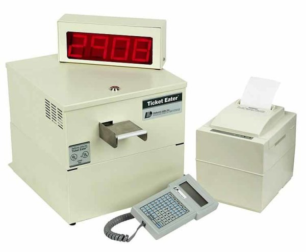 Deltronic Labs DL9000 Table Top Ticket Eater/Counter With Printer and keypad | moneymachines.com