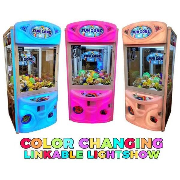 Fun Zone Color Changing Crane Game Machines | moneymachines.com