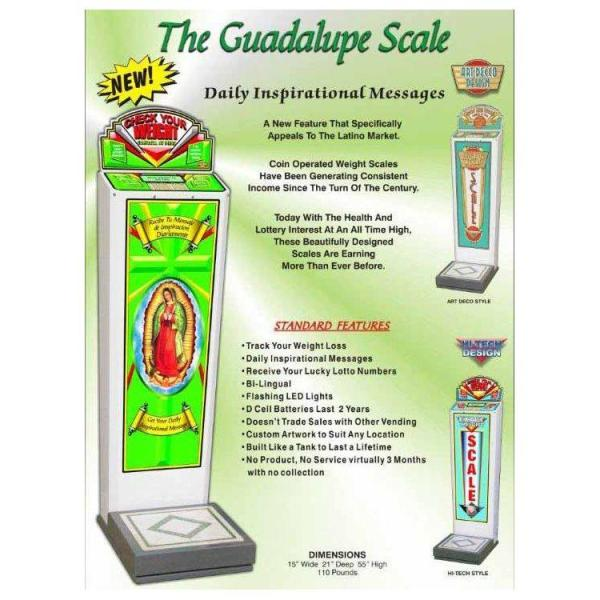 Guadalupe Coin Operated Weight Scale Brochure | moneymachines.com