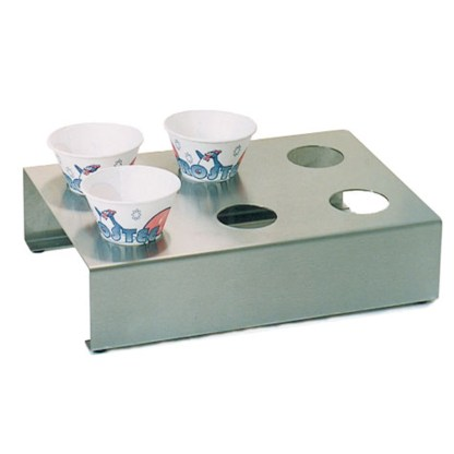 Stainless Steel Snow Cone Holder | moneymachines.com