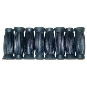 8 Black Rubber Ribbed Slip-On Handles | moneymachines.com