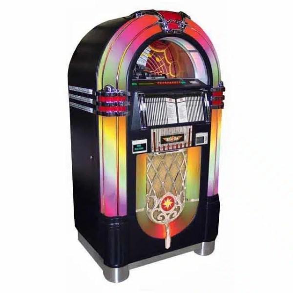 Rock-Ola Bubbler CD Jukebox   Black Finish   moneymachines.com