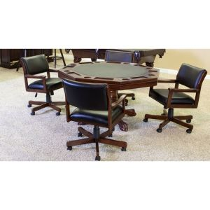 3 in 1 Game Table Set With 4 Swivel Chairs | moneymachines.com