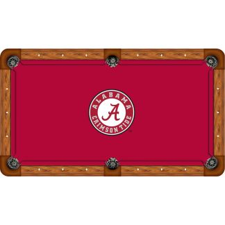Alabama Crimson Tide Billiard Table Cloth | moneymachines.com