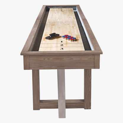 HJ Scott® 12' Abbey Shuffleboard Antique Grey Stained | moneymachines.com