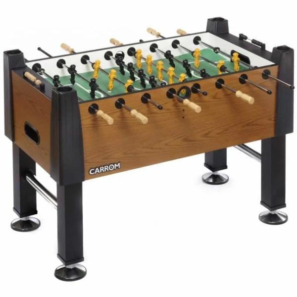 Carrom SIGNATURE FOOSBALL TABLE – Burr Oak – Preassembled | moneymachines.com