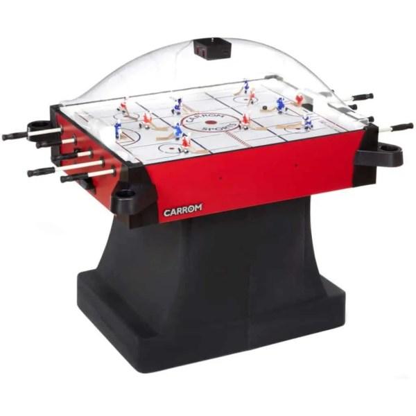 Carrom Signature Stick Hockey Table With Pedestal   425.01 Red   moneymachines.com