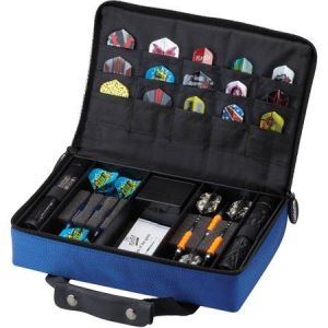 Casemaster Classic Blue Nylon Dart Case 2 Dart Sets | moneymachines.com